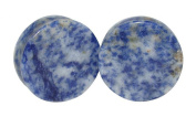 Blue Spot Organic Precious Stone Double Sided Flare Gauges / plugs / solid Saddle