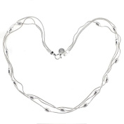 Silvered necklace - Taramis - Silvered Silvered jewellery with 925 sterling silver Low price gift for woman Jewellery