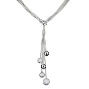 Silvered necklace - Lariat - Silvered Silvered jewellery with 925 sterling silver Low price gift for woman Jewellery