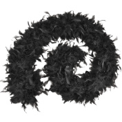 Feather Boa 80g Budget Boas Accessory for 20s 30s Flapper Fancy Dress Boas Feather Boa 80g. Black Budget