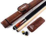CUESOUL 560ml 1/2 Jointed Maple Pool Cue Stick with Case