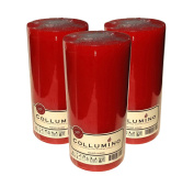 Large COLLUMINO 120 Hour Solid Colour Pillar Candles Size 15 x 7cm