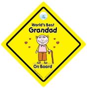 World's Best Grandad On Board, World's Best Grandad, Baby on Board, Decal, Bumper Sticker, Car Sign, Grandchild Sign, Grandparents Car Sign, Baby Sign, Baby Car Sign, Baby Signs, Grandad, Pops, Nanny, Grandparent