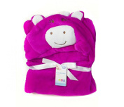 First Steps Supersoft Fleece Hooded Baby Blankets