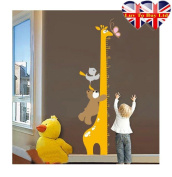 Giraffe Growth Up Chart Wall Sticker, Wall Tattoo; Unique and cute sticker for your Kids Room , . perfect gifts for the