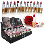 72 Lipstick Luxury Full Size Assorted Colours in Display Box WHOLESALE