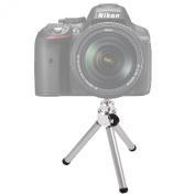 DURAGADGET Collapsible Aluminium Mini Camera Tripod For Nikon D610, Nikon D5300, Nikon D3300, Nikon D4S