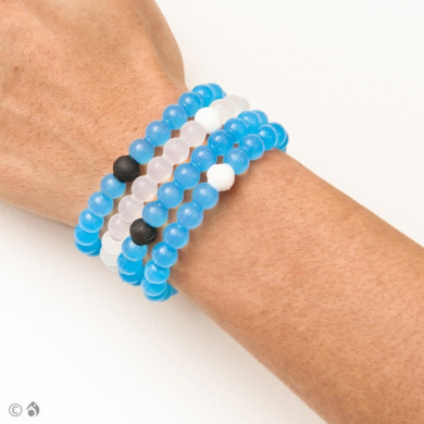 Lokai Bracelet Limited Edition BLUE Mud from Dead Sea and Mt Everest