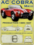 FRENCH VINTAGE METAL SIGN 20x15cm 1966 MK III AC COBRA MUSCLE CAR