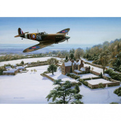 Rothbury Publishing Spitfire Over Chartwell Christmas Cards - Pack of 10
