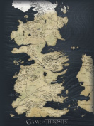 Game of Thrones 60 x 80 cm Map Canvas