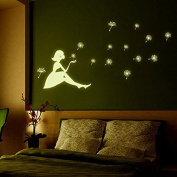 iDealhere Home Wall Glow In The Dark Romantic Luminous Stickers Decal Baby Kids Nursery Room Sticker 4 Styles