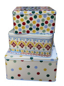 Emma Bridgewater Folk Border Set of 3 Square Cake Tins