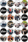 24 The Vamps Edible Wafer Paper Cup Cake Toppers
