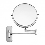 Songmics 10x Magnification Wall Mounted Mirror for Beauty Makeup & Bathroom Shaving - 360° Swivel Telescopic BBM001