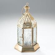 Antique brass moroccan style mini lantern