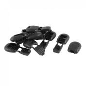 10 Pcs Zipper Pull Plastic Clip Locks End Toggle Black 5.2mm x 4.5mm