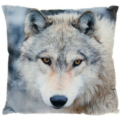 Wolf Head Photo Print Cushion and Cover
