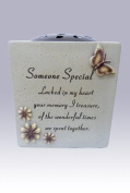 Graveside Memorial Pot For Flowers With A Beautiful Verse For Someone Special