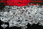 1000 Clear Wedding Table Scatter Crystals Diamond Decoration