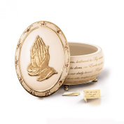 'Hands Of Prayer' Porcelain Musical Prayer Box By The Bradford Exchange