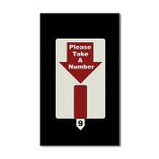 CafePress - Please Take A Number Rectangle Sticker - Rectangle Bumper Sticker Car Decal