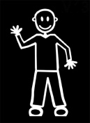 Official My Stick Figure Family Car Window Vinyl Sticker Male Waving M13