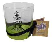 Pink 'Keep Calm And Drink Whiskey' Hand Painted Short Glass by Memories-Like-These UK