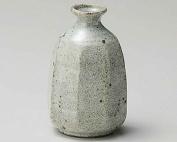 Grey-Glaze Octagon 7cm Set of 2 Sake carafes Grey Ceramic Made in Japan