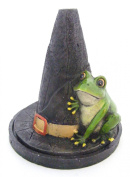 NEW Attractive Lisa Parker Designed Magical Witch's Hat with Frog Incense Cone Burner