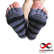 Yoga Toeless Socks, 2 Pairs Set, For Yoga and Pilates, Non Slip Skid Socks by YogaAddict