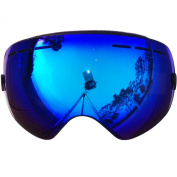 ZIONOR 10 Colours Lagopus Snowmobile Snowboard Skate Ski Goggles with Detachable Lens and Wide Angle Double Lens Anti-fog Big Spherical Professional Unisex Multicolor Lagopus3100