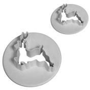 Reindeer cutter Set of 2, For Cake Craft / Decorating