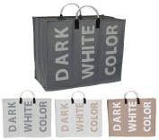 Folding Collapsible Laundry Basket Bag Bin Storage Hamper Laundry Separator Bag- SEPARATE YOUR DARK, WHITE, COLOUR CLOTHES --LAUNDRY BASKET