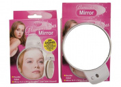 Round Double Sided Magnifying Mirror 8.5Cm With Led Light Make up