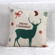 Malloom® Vintage Christmas Santa Claus Sofa Bed Home Decor Pillow Case Cushion Cover