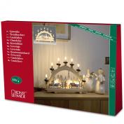 Konstsmide Natural Wood 7 Light Welcome Light with Village Motif