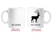 Yes Deer No Deer Mug Novelty Husband Boyfriend Gift Cup Funny Birthday Christmas Anniversary