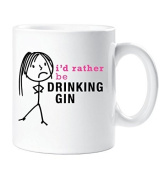Ladies I'd Rather Be Drinking Gin Mug Cup Gift Friend Christmas Birthday Gift