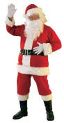 Mens Santa Claus Father Christmas Xmas 6 Piece Fancy Dress Costume Outfit with Beard
