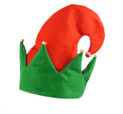 Christmas Secret Elf Hat With Bells Adult Xmas Fancy Dress Party Accessory
