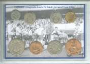Millwall FC (The Lions Den) Vintage Back to Back Promotions Retro Coin Present Display Gift Set 1966