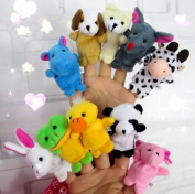 10x Farm Zoo Animal Finger Puppets Toys Boys Girls Babys Party Bag Filler
