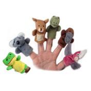 Pinkyee The Fairy Tale Finger Puppets Australia Animal Set Koala Kangaroo Crocodile Platypus Galah Toad Set 6PCS