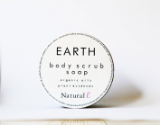 Body Scrub Soap-- Earth--Organic Soap--Multitasking Minimalist Beauty