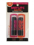 MAYBELLINE NEW YOURK LIMITED EDITION BABY LIPS TWEEN PACK PINK SHOCK & ORANGE moisturising LIP BALM