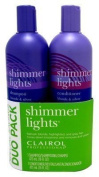 Clairol Shimmer Lights Combo 470ml Shampoo/470ml Conditioner Blond-Silver by Clairol