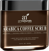 Art Naturals Organic Arabica Coffee Scrub 260ml - Deep Skin Exfoliator That Promotes Cell Repair & Rejuvenation - Best Spider Vein Therapy for Varicose Veins, Cellulite, Stretch Marks, Eczema & Acne