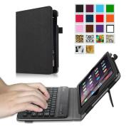 Fintie iPad mini 1/2/3 Keyboard Case - Premium PU Leather Folio Stand Cover with Removable Wireless Bluetooth Keyboard for Apple iPad mini 1 / iPad mini 2 / iPad mini 3, Black