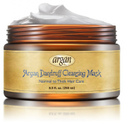 Dandruff Cleansing Deep Conditioner Mask - Thick Coarse Hair Care - Premium Moroccan Argan Mask 250ml - Deep Cleans Dandruff Flakes & Residues - Long Lasting Conditioning Hair Nourishment